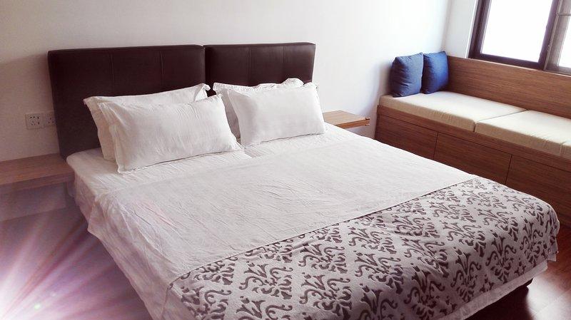 2 camas individuales y 1 tatamis