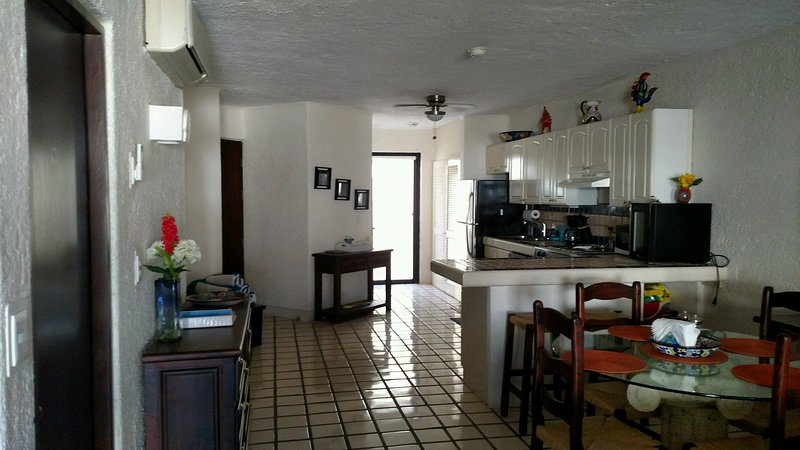 Kitchen, dining and laundry rooms