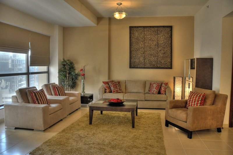 Spacious and comfortable lounge area