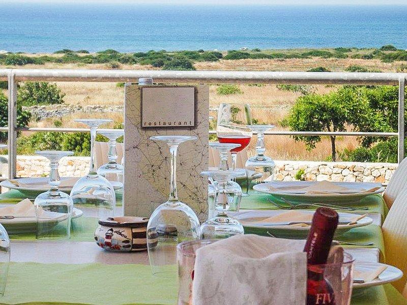 Restaurang med havsutsikt