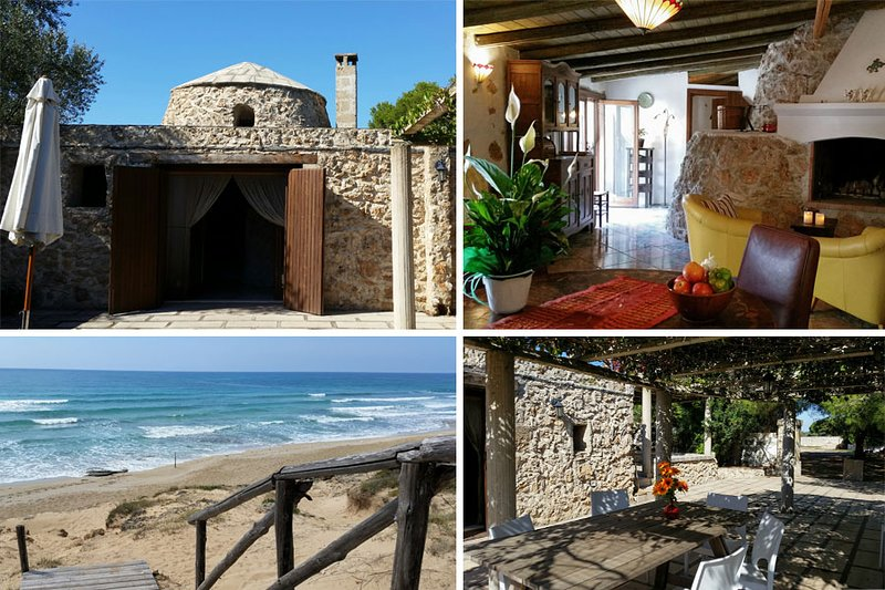 The Trullo, inside, nearby beach and terrace