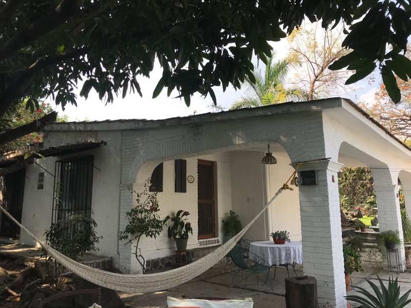 front of the housing. Hammock.