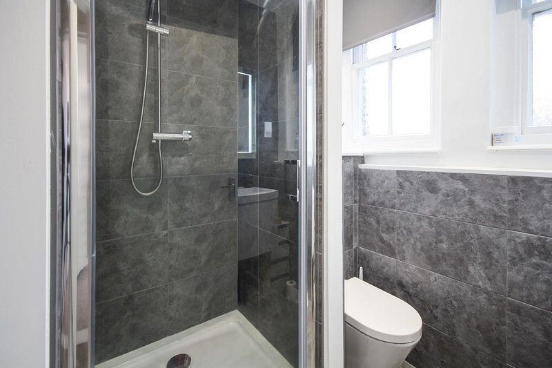 Modern amazon shower and soft closing toilet