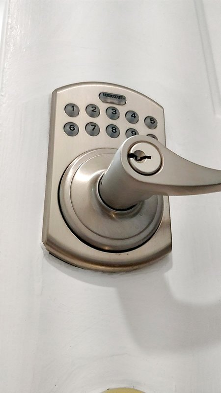 Automated lock on the front door