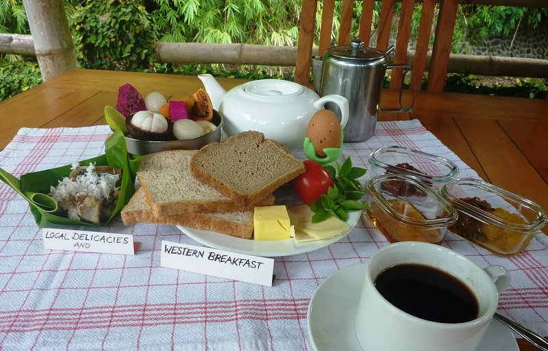 Balinese and Western breakfast