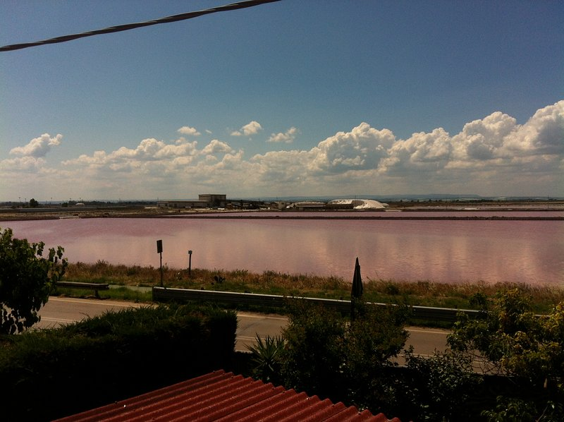 View of the salt ponds from the terrace