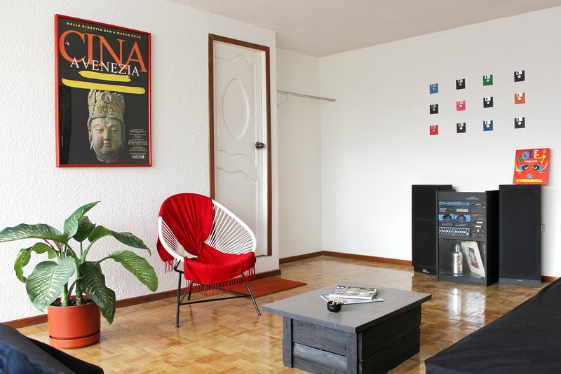 Acapulco Chair, seriously, is the most delicious thing to lay at and get relaxed. grab a book!