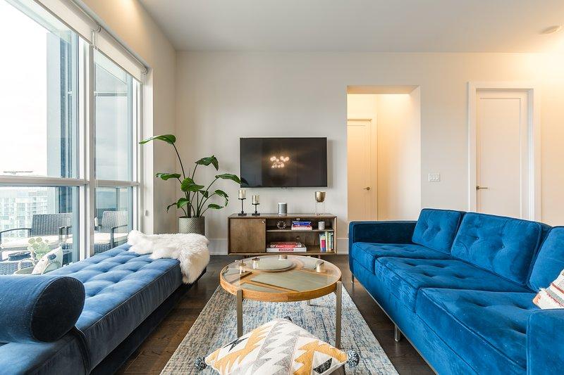 Mid Century Modern designed living space