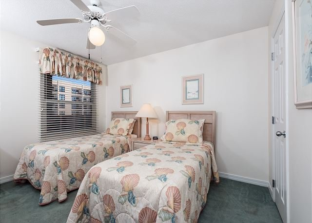 Additional view of the twin beds in the guest bedroom