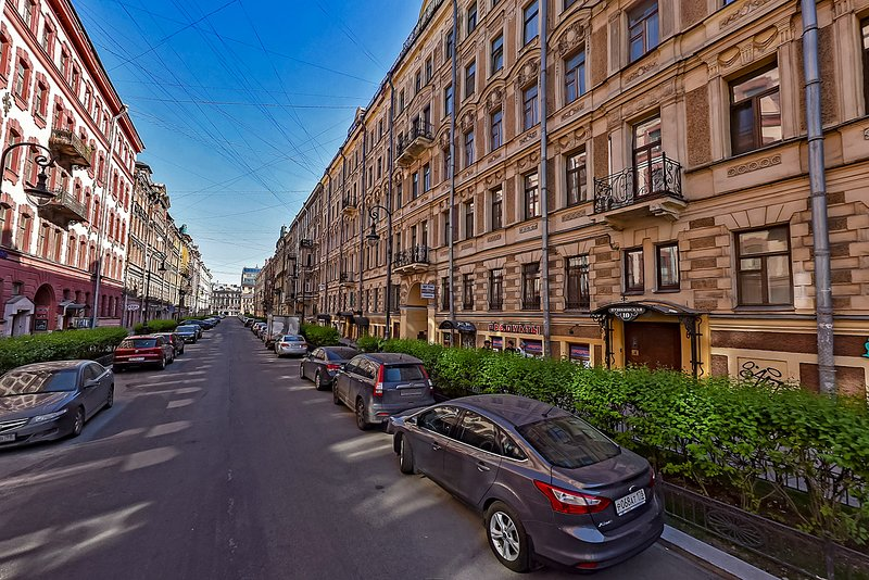 The view on the building in  Pushkinskaya st., 10
