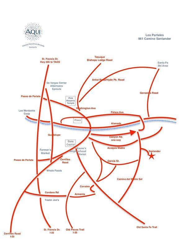 Para uma referência de localização, usar este mapa. Há mais na casa.