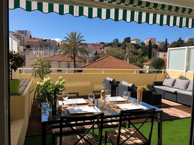 Magnificent 2 Rooms 50 m² Center Cannes, any comfort, Terrace 31 m², Ideal Holiday, Congress