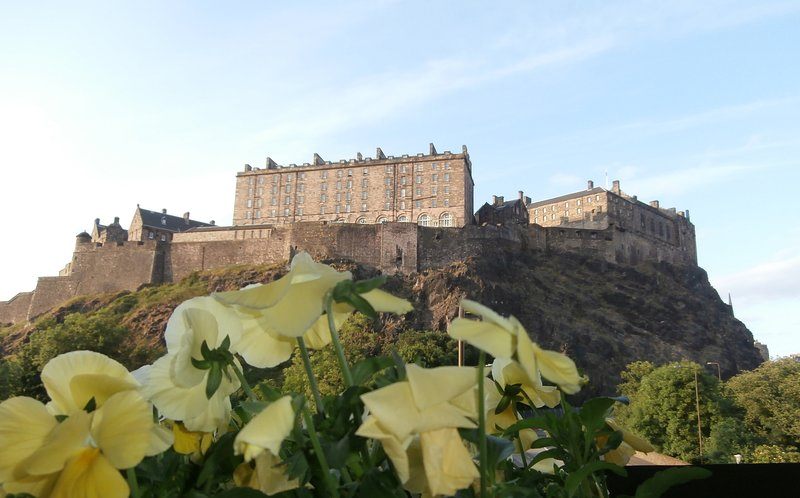 Edinburgh Castle - as seen from the sitting room