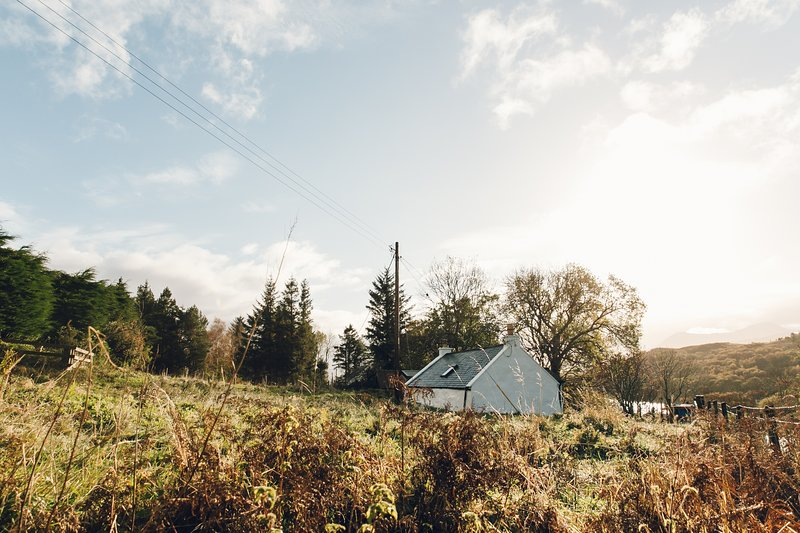 The Crofter's House sits in half an acre and faces south west