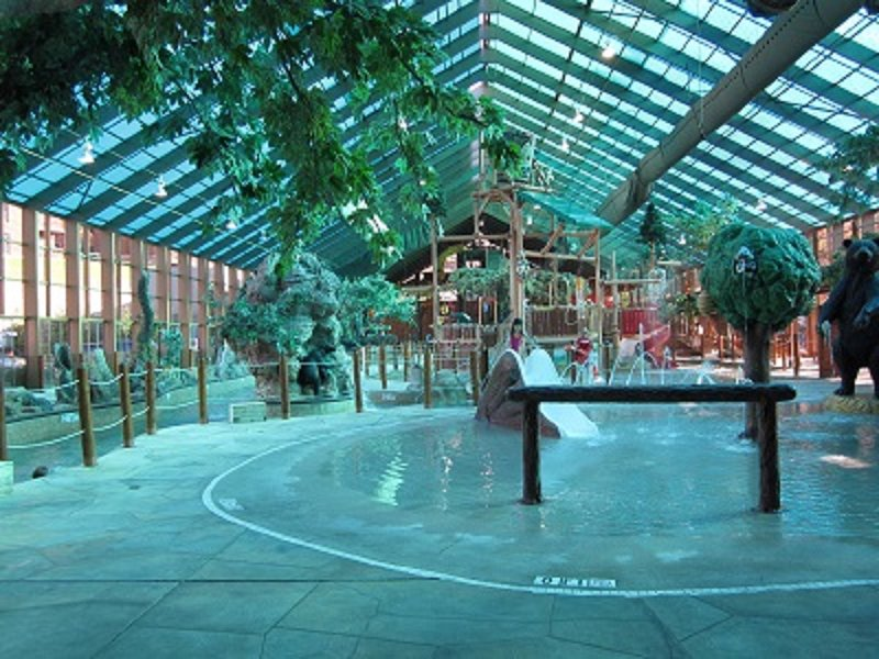 Water park kids area