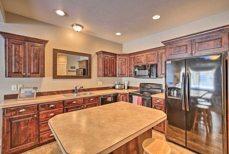 Boasting 1,350 square feet, this home sleeps 6.