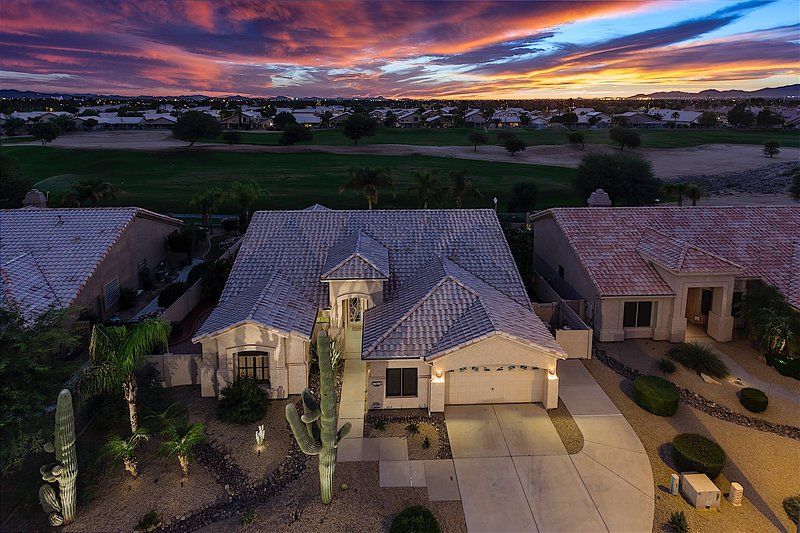 Building,Cottage,Patio,Aerial View,Yard