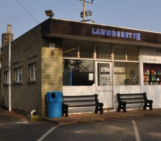 The onsite Laundrette found just inside the entrance to the site.
