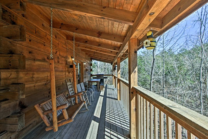 Get away from it all at this 3-bedroom, 3-bathroom vacation rental cabin!