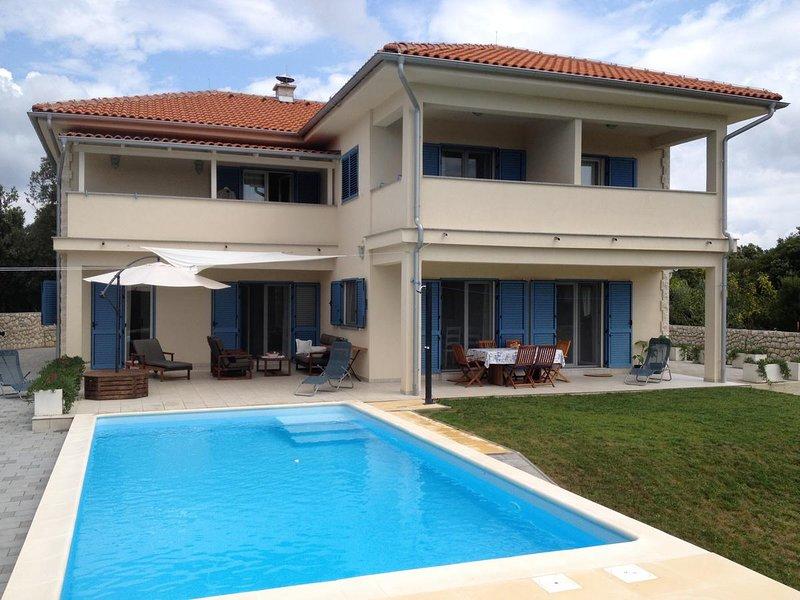 Villa con piscina en alquiler, isla de Rab