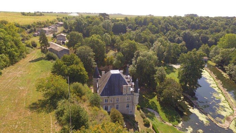 Vista aérea de la zona y el río