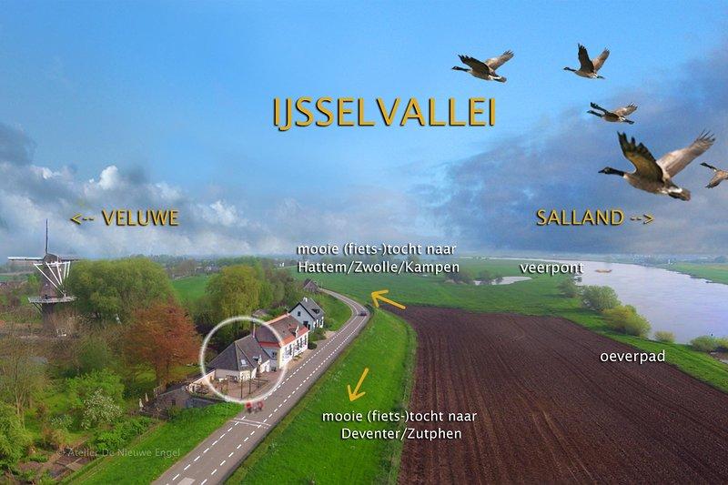 Zo vanuit het verblijf kunt u heerlijk fietsen over de dijk en in 3 natuurgebieden.