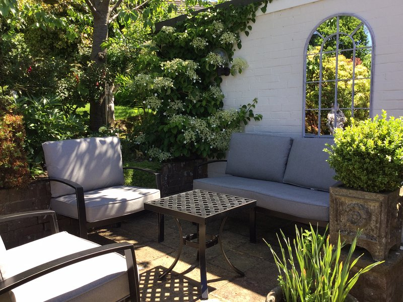 Seating on your private patio