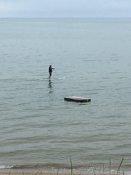 Paddleboard à Cooks Brook plage
