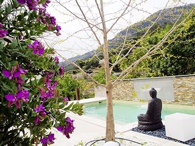 Stunningly beautiful Casita with designer saltwater pool and waterfall, vacation rental in Soller