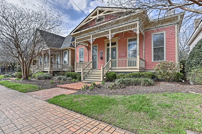 Explore the Fort Conde district of Mobile from this 2-bedroom, 1.5-bath cottage!