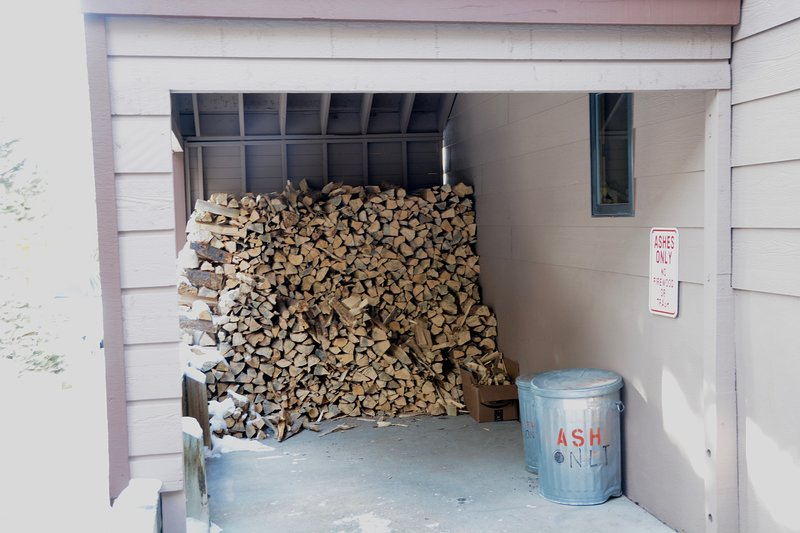 Plenty of wood for fire place in common area