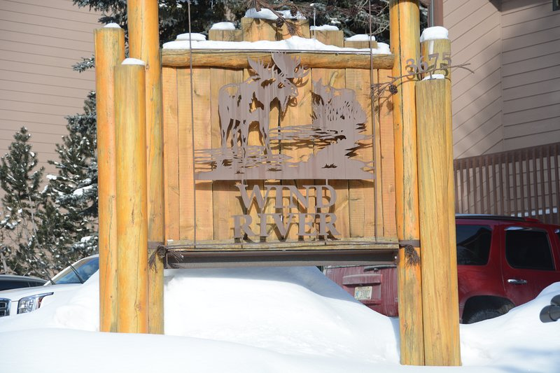 Look for Wind River Condo sign from the road
