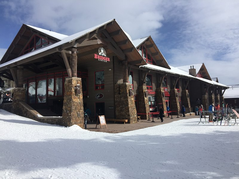 Bridger Center at JHMR for skis, rentals, tickets, clothing accessories