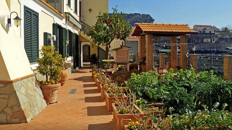 Casa Capri (02) Terrazza comune con area barbecue