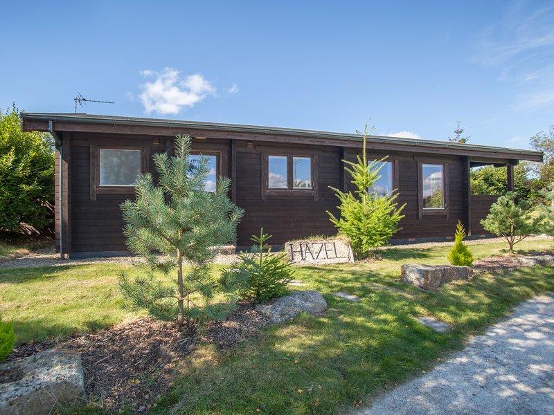 HAZEL LODGE, open-plan living, log-effect fire, Bodmin 5 miles, Ref 974707, vacation rental in Lanivet