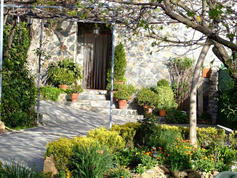 Facade big house from his garden.