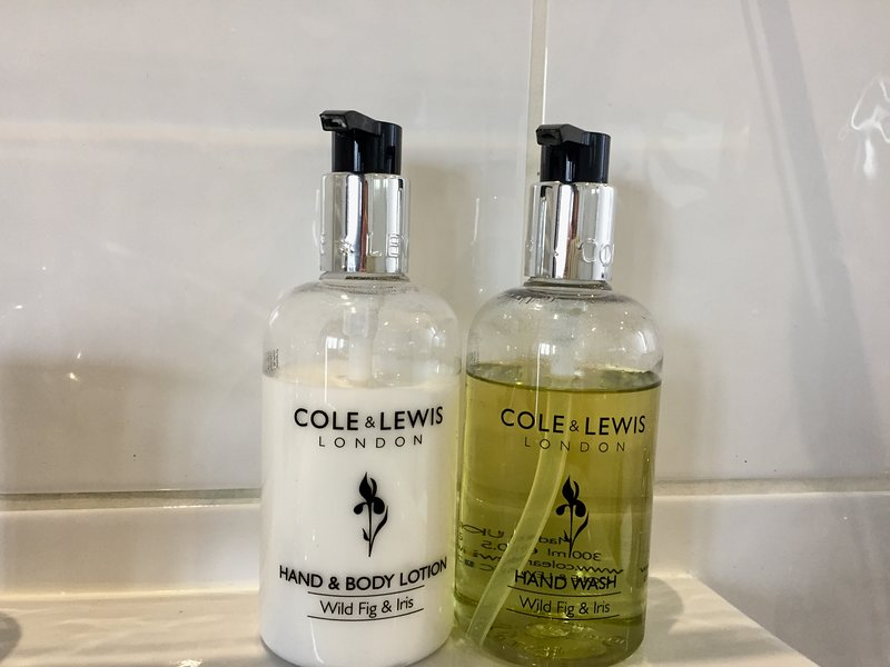 Quality complimentary toiletries