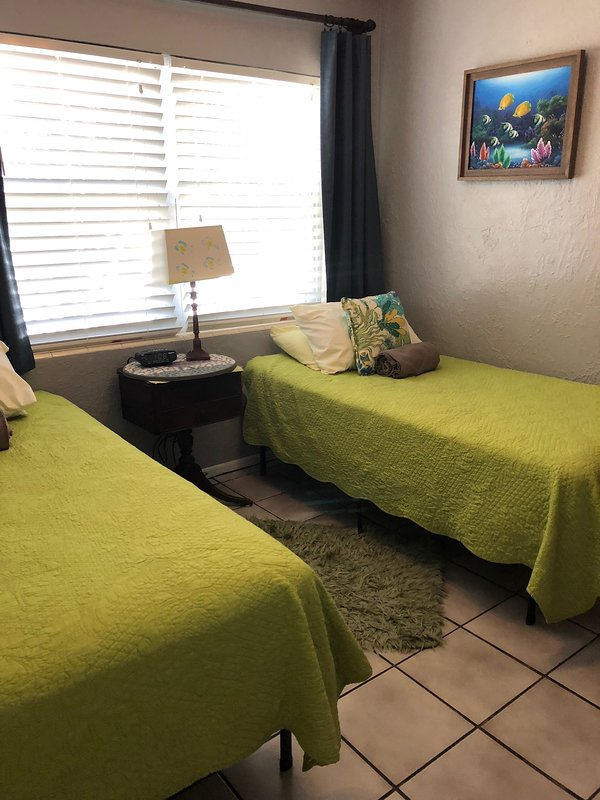 3rd Bedroom with 2 twins and can be set up as a king
