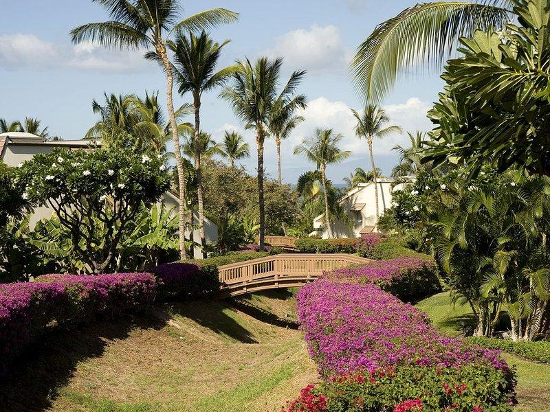 Edificio, Hacienda, flor, jardín, vegetación