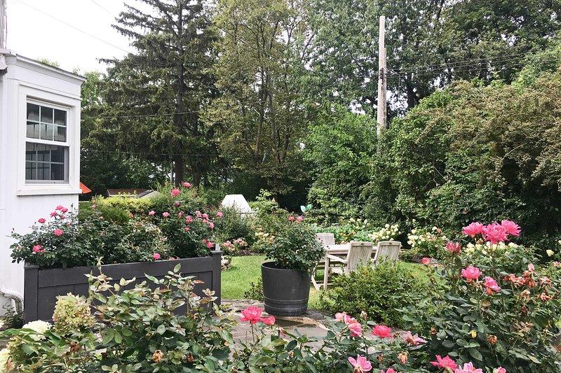 Passez un peu de temps calme vers le bas dans le jardin.