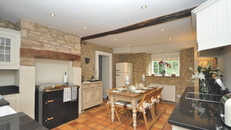 Beautiful kitchen dining area.