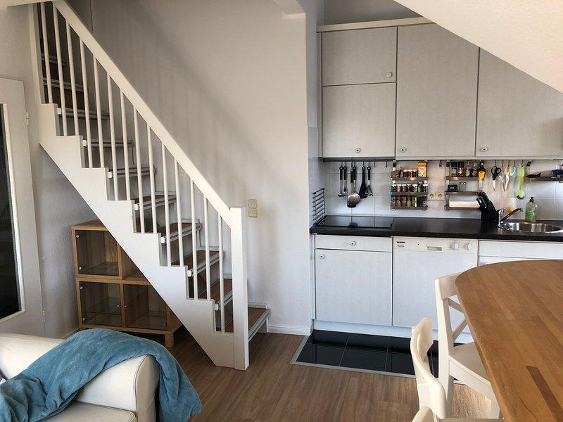 Ferienwohnung Petine Langeoog - Küchenzeile & Wohnraum