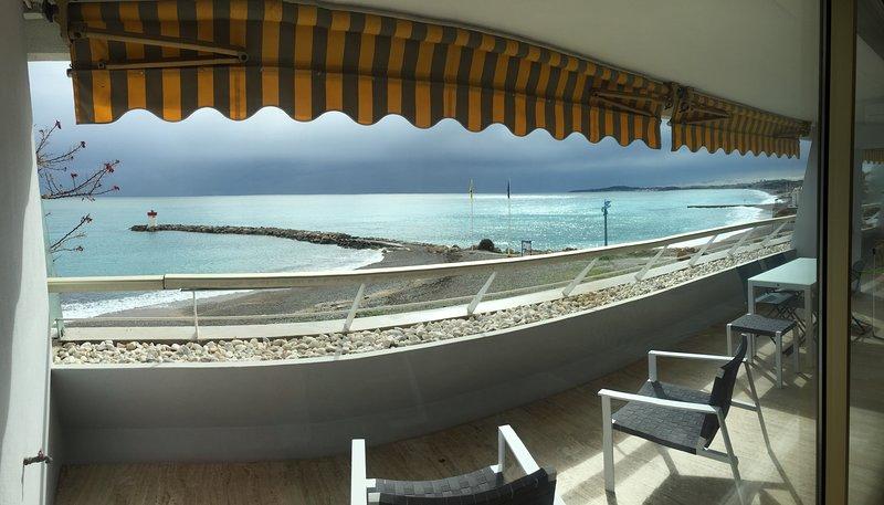 Panoramic photo of the sea view