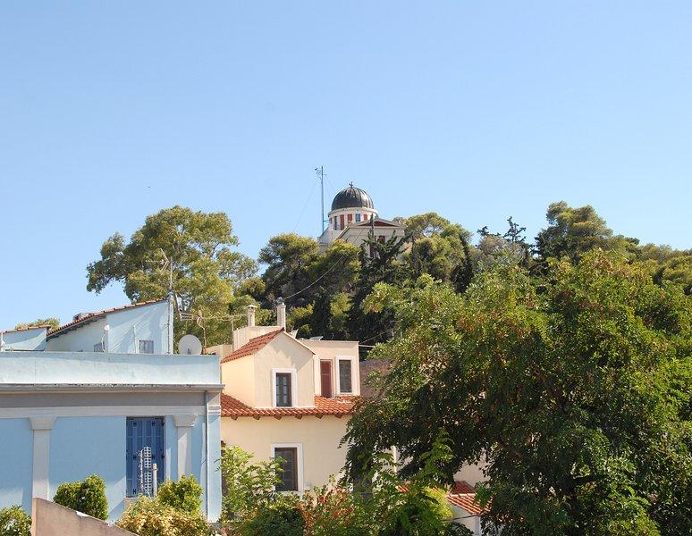 O antigo Observatório de Atenas como parece que a partir do terraço