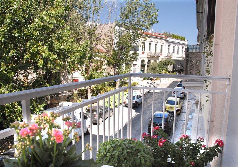 A vista a partir da varanda da frente