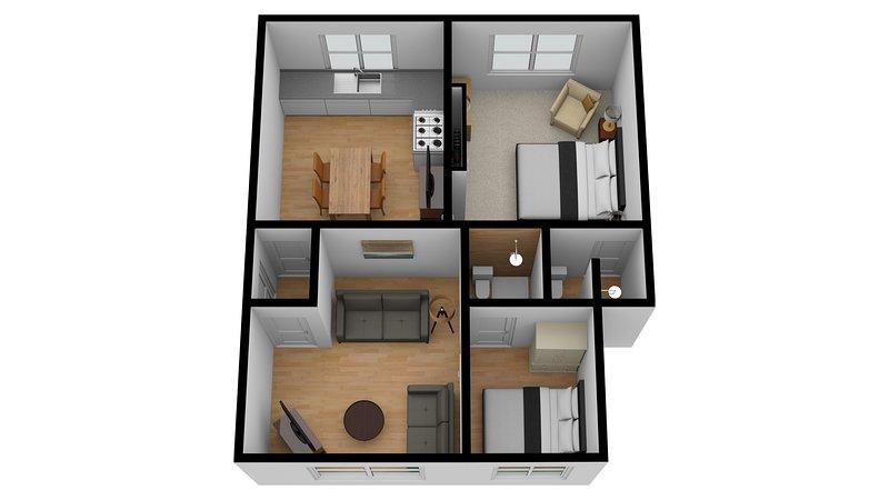 Plan de l'appartement 5, Bedford House Apartments, Torquay.