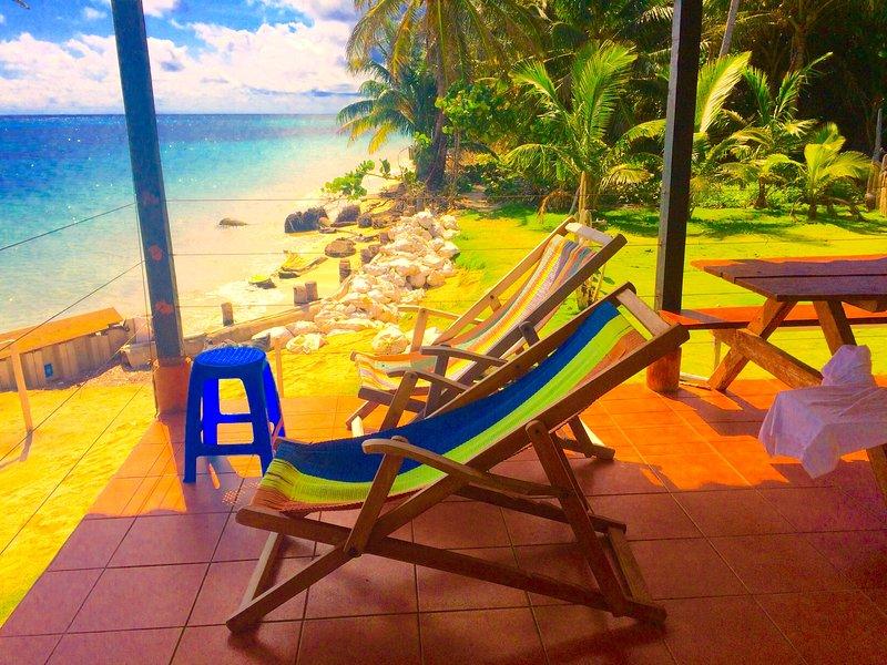 sit here and enjoy the aqua blue
