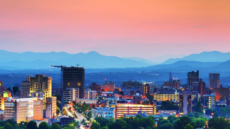 Deixe o horizonte Asheville cativá-lo.