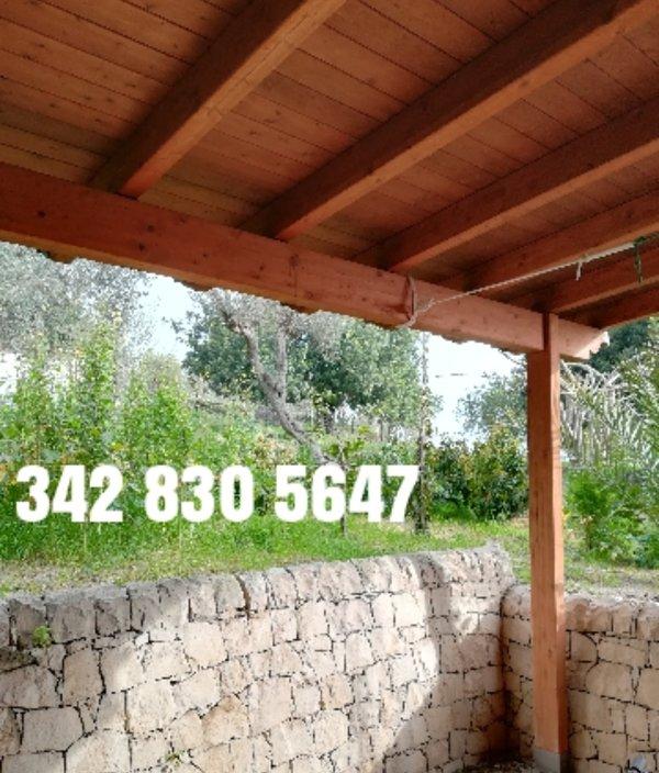 Covered veranda holiday home Modica countryside