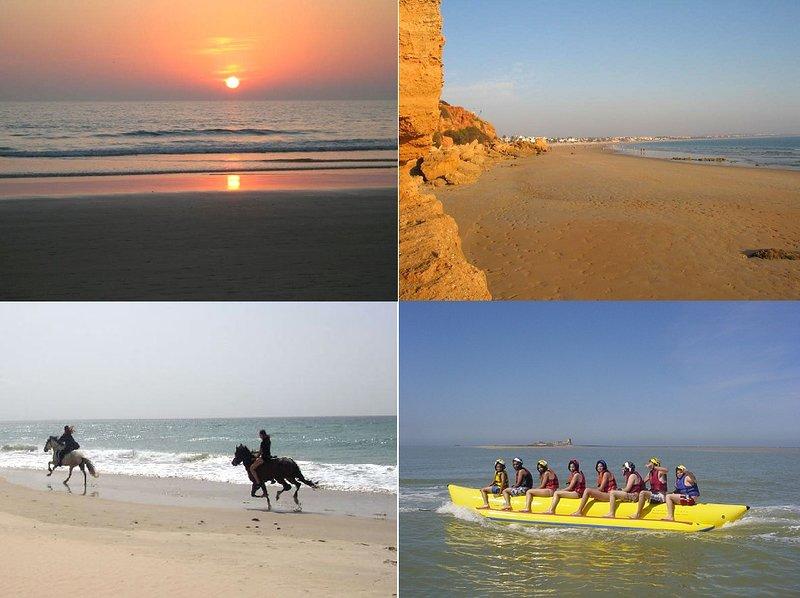 Você pode desfrutar de muitas actividades ao redor da casa. passeios a cavalo, desportos aquáticos ..
